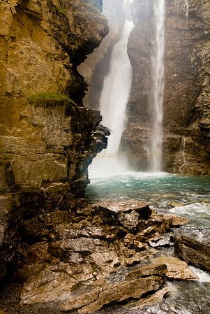 Waterfall in Johnston Canyon