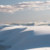 White Sands National Monument, Windblown gypsum drifts shape the landscape.