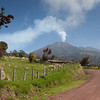 Driving up towards Turrialba volcano.