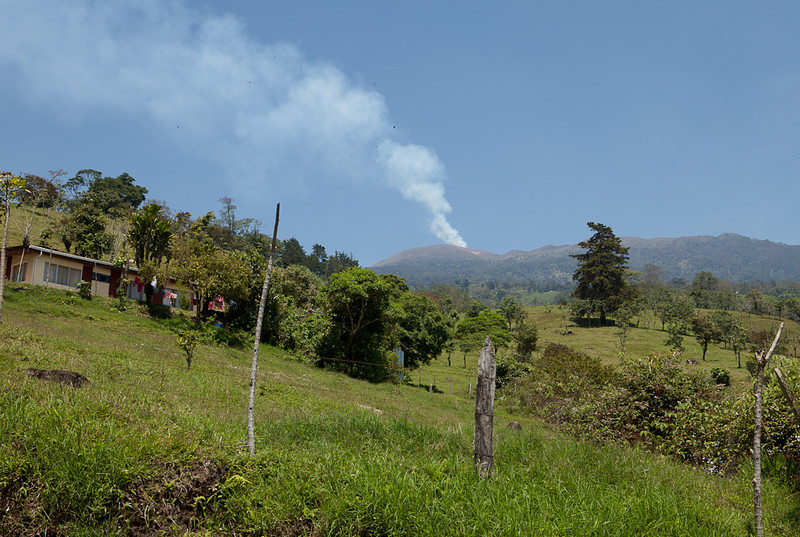 View towards Turrialba volcano.
