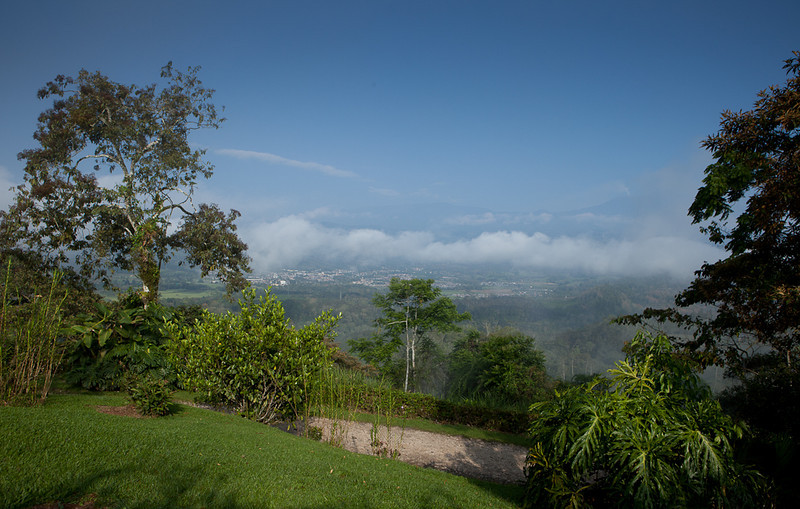 "View from <a href=""http://www.turrialtico.com/"">Turrialtico Lodge</a>."