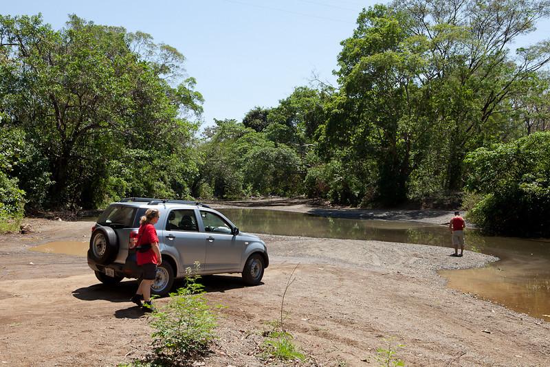Fording a river near Samara.