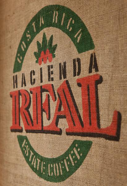 Hacienda Real coffee sack.