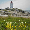 "According to legend, Peggy's Cove was named after the only survivor of a schooner that ran aground and sank in 1800... a woman named Margaret. Local folk called her ""Peggy"" and her home came to be known as Peggy's Cove. The original lighthouse was built in 1868. Exactly 100 years later, in 1968 the Campbell family opened a five-table tea room. Photo made in July of 2010."