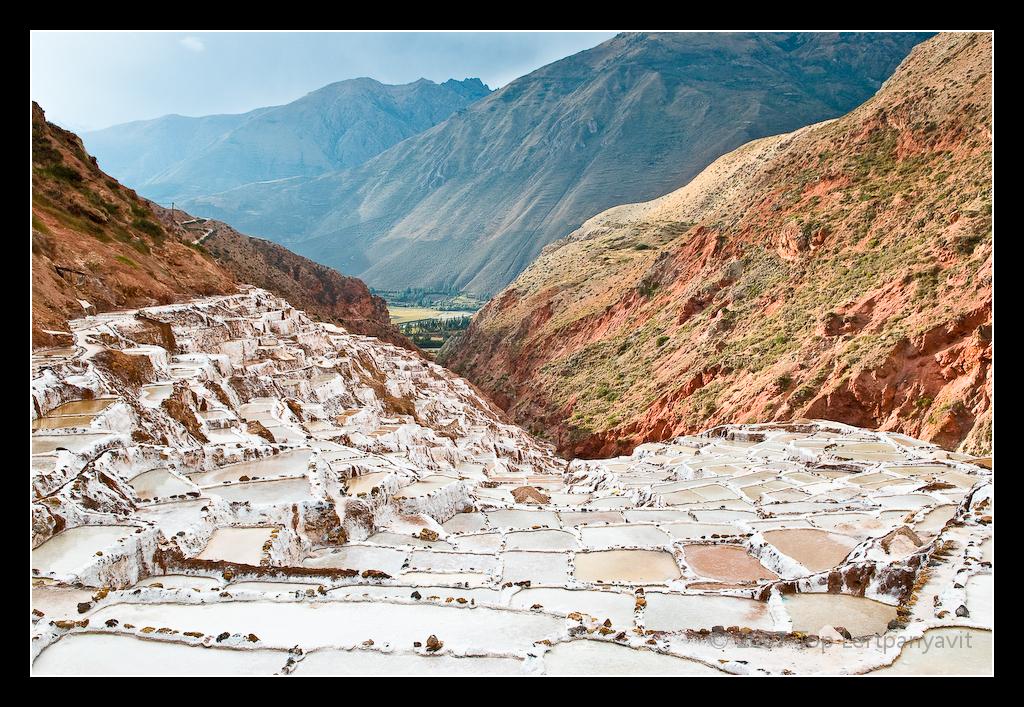 Salinas salt mines in the Chinchero Valley, Peru