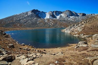 Summit Lake and Mt Evans