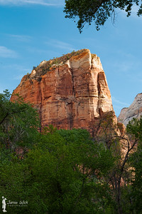 Angel's Landing from the Grotto picnic area