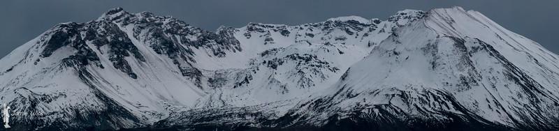 Mt St Helens at dusk