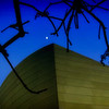 Disney Concert Hall with Moon #47 - Los-Angeles, USA