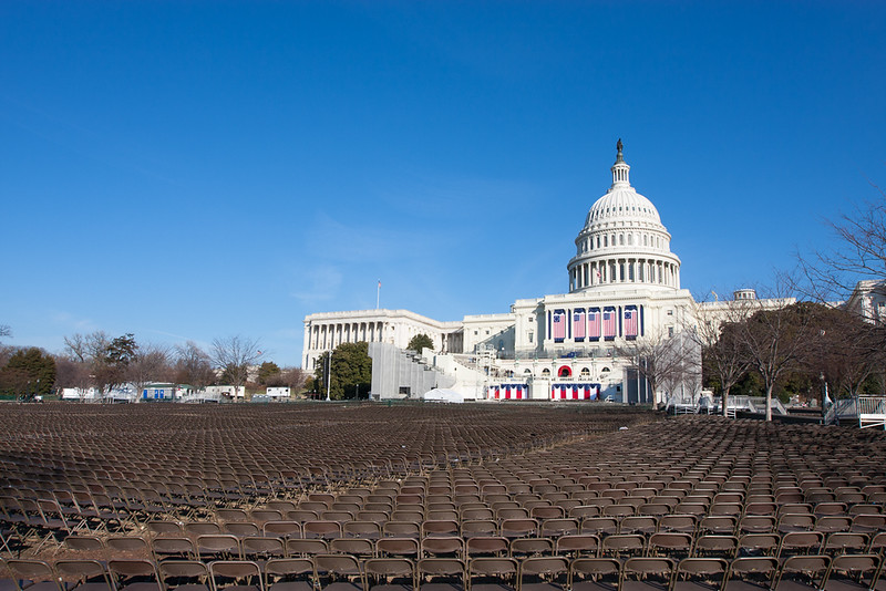 Capitol. The day after teh Inaugural.