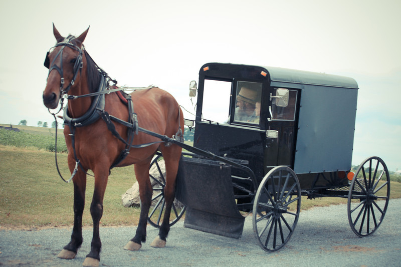 Bryce Lafoon photographs the Amish on location in Lancaster County Pa.