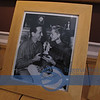 If you click on the right side of the photo, it enables you to Enlarge it more...it says, Bogart and Baccall..