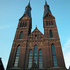 ' Posthoorn Kerk', at Haarlemmerstraat.<br /> Designed by church architect Pierre Cuypers in 1860, and build during 1860-1863<br /> Cuypers designed more than 100 churches...