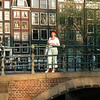 My wife, overseeing the channels of Amsterdam..