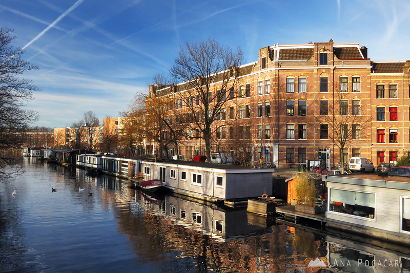 Boat houses in Amsterdam