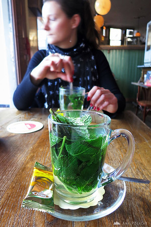 Famous fresh mint tea in Amsterdam