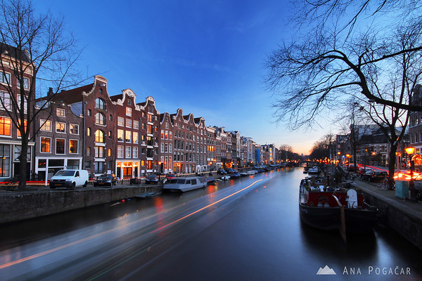 Amsterdam at the blue hour