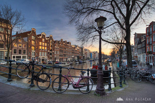 Amsterdam at sunset
