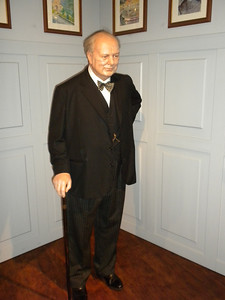 Madame Tussaud's waxworks in Amsterdam. - Churchill
