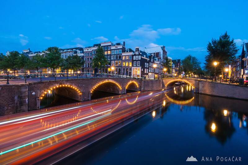 Evening boat ride along Amsterdam canals