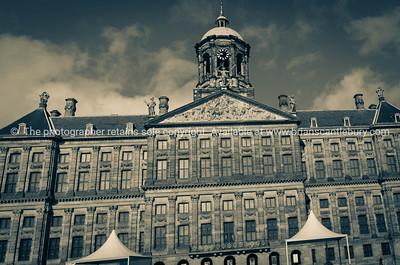 Impressive Royal Palace, originally Town Hall, dominates west side of Dam Square