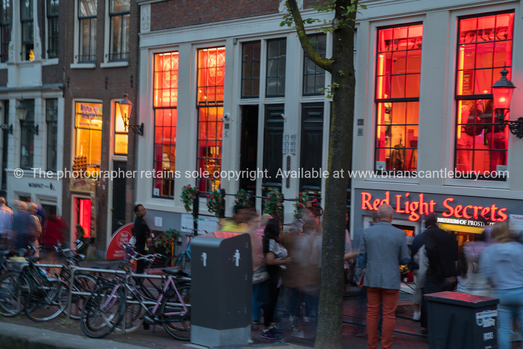 Amsterdam, Holland- street scene in red light district; Model or property release; NO, for personal or editorial use only please.