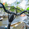 Bicycle closeup by canal
