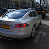 A Tesla Model S electric car, very nice indeed.