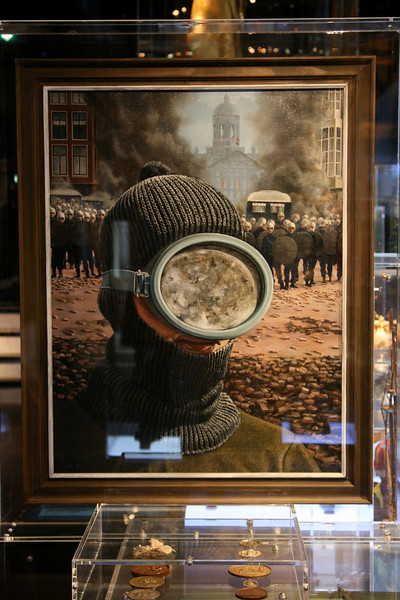 Painting in the Amsterdam Historical Museum commemorating the 1960s.