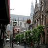 Haarlem, Sint Bavokerk in the background.
