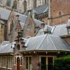 The Sint Bavokerk (Saint Bavo Church) in Haarlem, looking deserted on a Sunday morning.