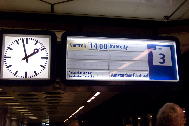 We cleared customs just in time to catch the next train to Amsterdam Centraal.