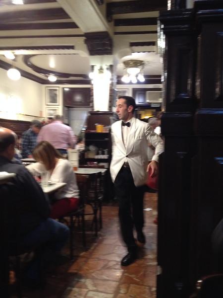 Our hard working waiter (Roberto Benigni's cousin??)