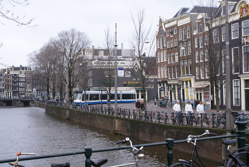 Tram by the Singel
