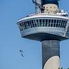 Rotterdam: Climbers on the Euromast