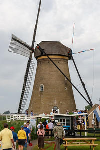 No wind on the day we visited the famous windmills.  This one is made of brick.