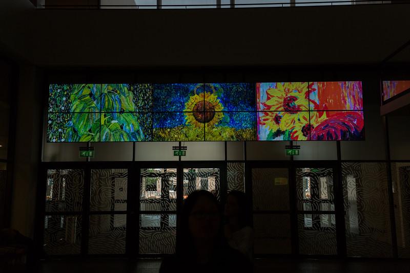 Van Gogh Museum slide show in loby