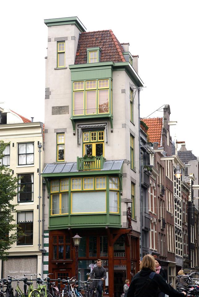Corner building.