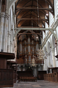 Oude Kerk - interior showing the Great Organ Added in 1724).