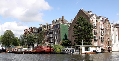 Buildings and canal, Amsterdam.