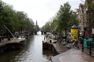 Prinsengracht Canal and lock, Amsterdam.