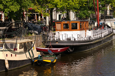 A houseboat. Amsterdam, Netherlands.