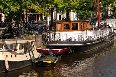 A houseboat. Amsterdam, Netherlands.