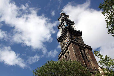 Westerkerk church tower (tallest in the city at 85 metres).