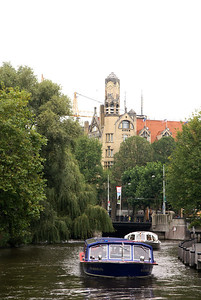 Canal with tour boats.