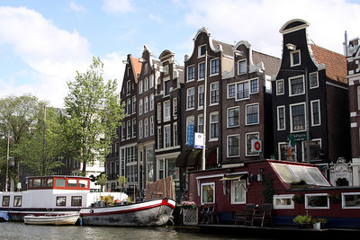 Canal and buildings, Amsterdam.