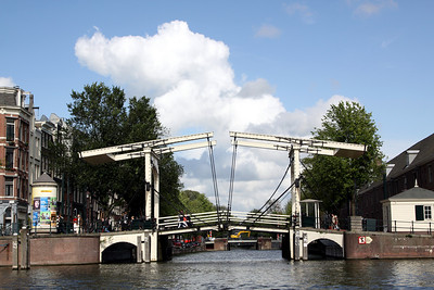 Lift bridge on the Amstel river.