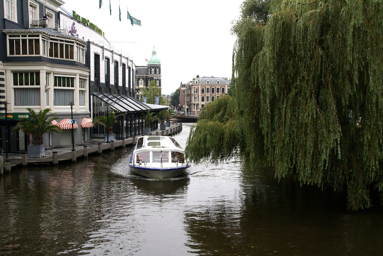 Tour boat on canal.