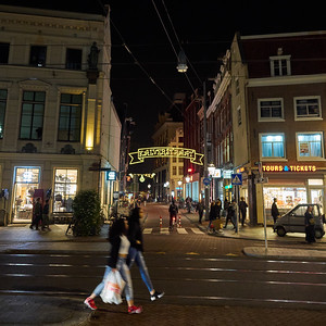 Kalverstraat. Amsterdam night