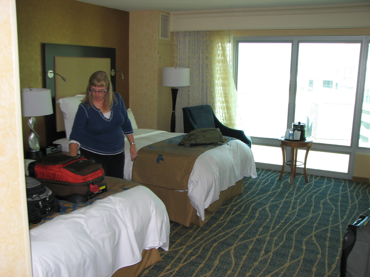 Our first Hotel night at the Seattle Marriot.